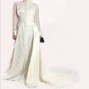 Vintage VICTORIAN Full Lace Wedding Dress TPIBS